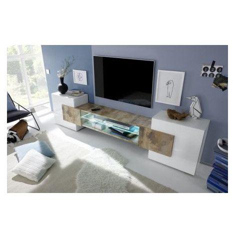 Meuble TV MODENA 258 cm pero - Blanc