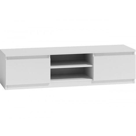 "main image of ""Meuble TV moderne pour salon 140 cm   Sonoma-Blanc"""