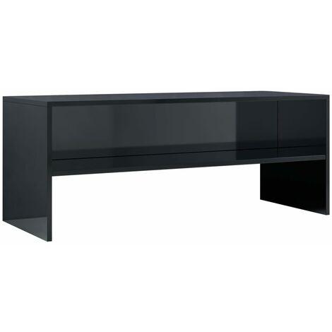 Meuble TV Noir brillant 100 x 40 x 40 cm Aggloméré