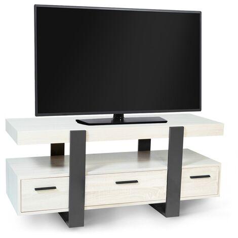 """main image of """"Meuble TV PHOENIX bois gris avec tiroirs"""""""