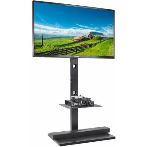 Meuble TV Pied avec Support Rotatif pour LED LCD PC Ecrans de 32-65 Pouces Fixation VESA 100x100 - 600x400mm pour Samsung Sony LG