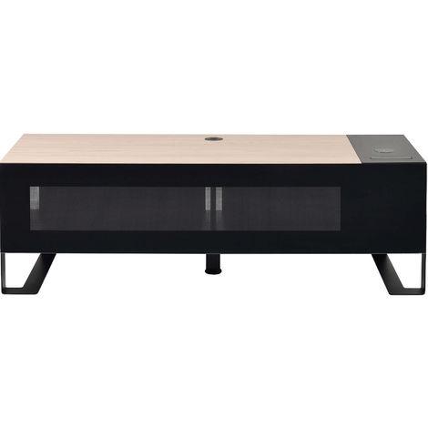 """meuble tv pour écran 30"""" à 55"""" + trappe + qi + chargeur 4 usb - 037401 - erard"""