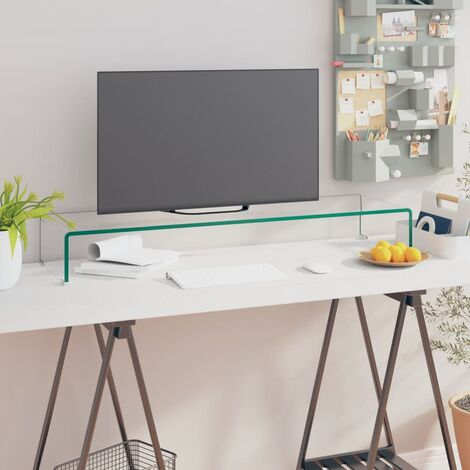 Meuble TV / pour moniteur 100 x 30 x 13 cm Verre Transparent