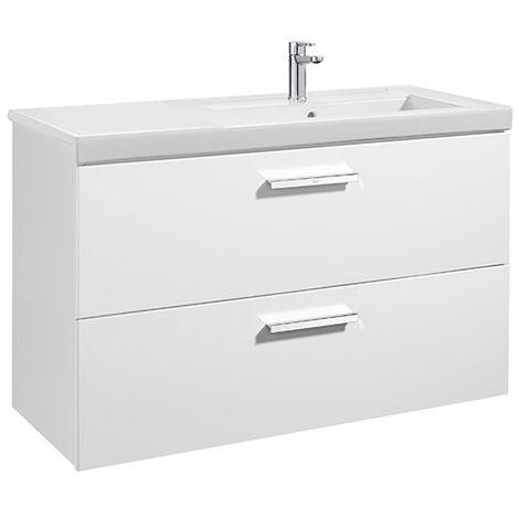 Meuble Unik PRISMA 1100 - 2 tiroirs + lavabo à droite - Gris anthracite