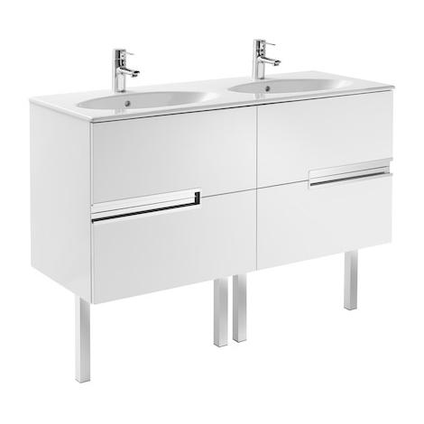 Meuble Unik VICTORIA-N oval 1200 - meuble + lavabo - Blanc brillant