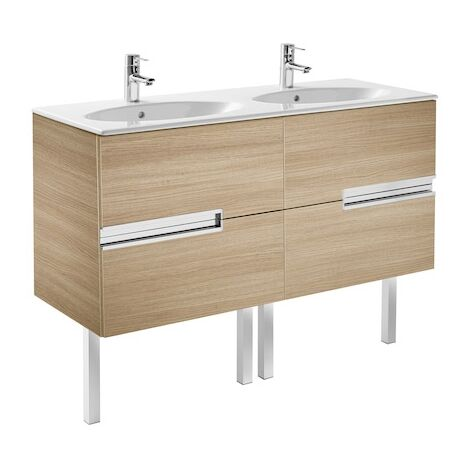 Meuble Unik VICTORIA-N oval 1200 - meuble + lavabo - Chêne texturé
