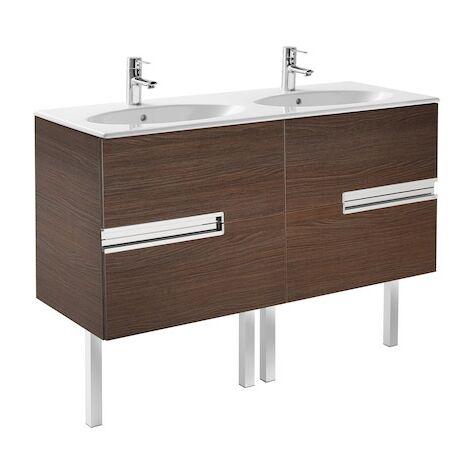 Meuble Unik VICTORIA-N oval 1200 - meuble + lavabo - Wengé texturé