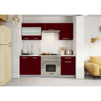Meubles Cuisine complète DANA laqué - 1m80 - 6 meubles