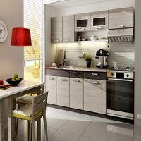 Meubles Cuisine complète TOPAZE - 2m40 - 6 meubles