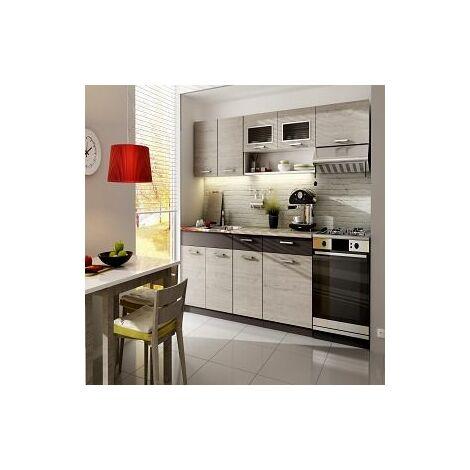 Meubles Cuisine complète TOPAZE - 2m40 - 7 meubles
