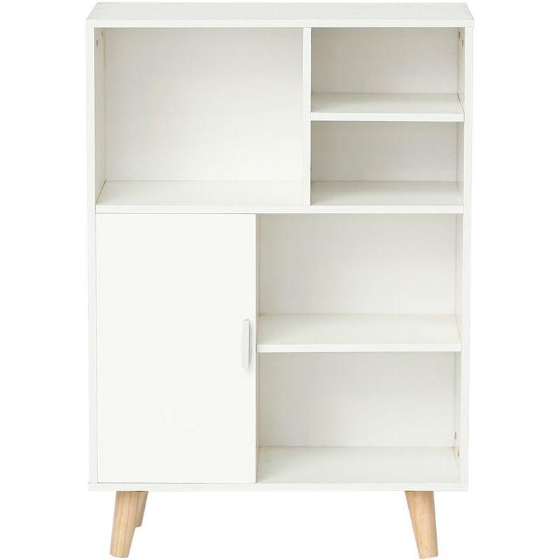 Meubles de Rangement Blanc Meubles Scandinave en Bois Bibliotheque Etagere  Rangement pour Salon, Bureau, Chambre.