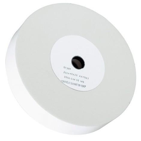 Meule à eau D. 200 x 40 x 20 Gr 80 pour touret G 150ME - 10505060 - Sidamo - Blanc -