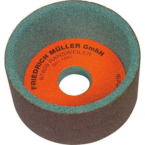 Meule boisseau carbure de silicium 100x50x20mm G80 Müller 1 PCS
