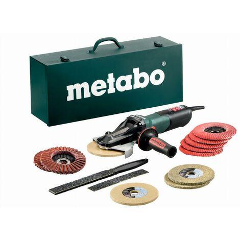 Meuleuse Ø125 mm METABO - WEVF 10-125 Quick Inox Coffret + Set d'accessoires - 613080500