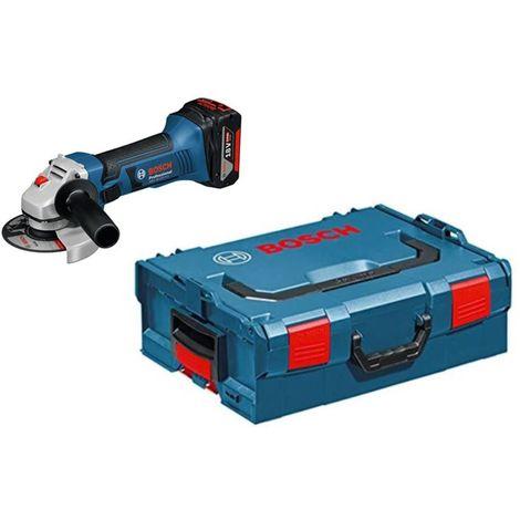 Meuleuse angulaire 18V Bosch Professional ss fil GWS 18-125 V-LI + 2 batteries 6,0 Ah + chargeur rapide + Coffret