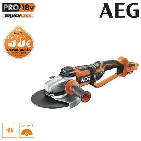Meuleuse brushless AEG 18 V 230mm sans batterie ni chargeur BEWS18-230BL-0