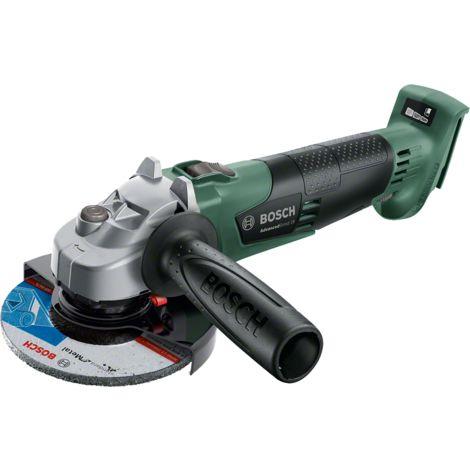 Meuleuse d'angle Bosch - AdvancedGrind 18 (Libré sans batterie ni chargeur, système 18 V, diamètre de disque 125 mm, rangement avec boite en carton)