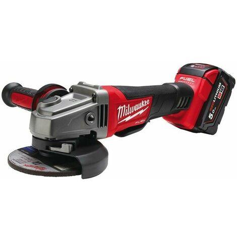 Meuleuse d'angle MILWAUKEE M18 CAG125XPD-502X - 18V 5.0 Ah + 2 batteries, chargeur, en coffret - 4933448864