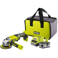 Meuleuse d'angle RYOBI 18V OnePlus R18AG-L40S - Batterie Lithium-ion 4.0 Ah - Chargeur