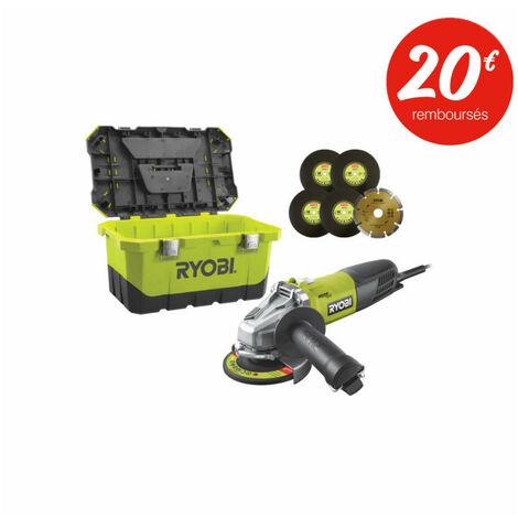 Meuleuse d'angle RYOBI - 800W - 125mm - RAG800-125TA6