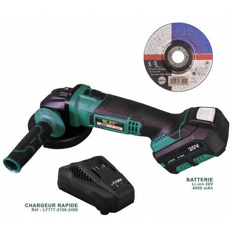 Meuleuse d'angle sans fil Silex® Batterie Li-Ion x 1 batterie 4 Ah