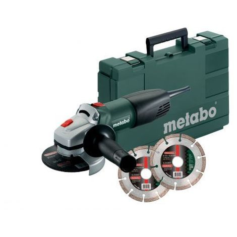 Meuleuse d'angle WQ 1000 125mm Metabo + 2 disques diamant
