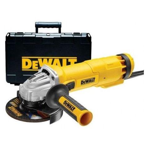 DWE4237K. Meuleuse Dewalt 1400Watts 125mm avec interrupteur glissière en coffret 222.852000