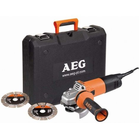 Meuleuse électrique 1200W 125mm - AEG WS12-125SK + 2 Disques Diamants