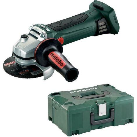 Meuleuse METABO - W 18V LTX 125 Quick Pick+Mix (sans batterie ni chargeur), coffret Metaloc - 602174840