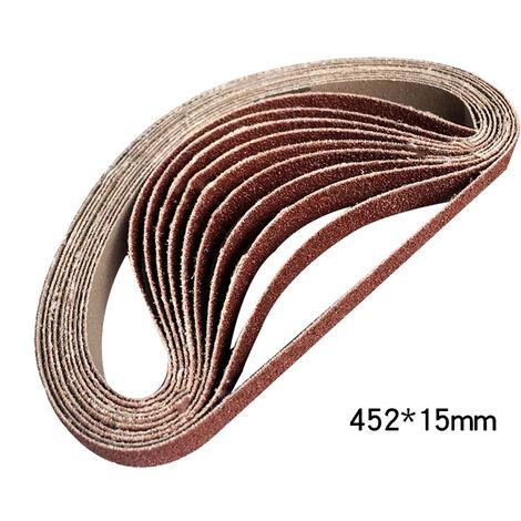 Meuleuse Meuleuse d'angle Meuleuse Polisseuse Polisseuse Papier abrasif de rechange 1478-9 10 bandes 120 mesh