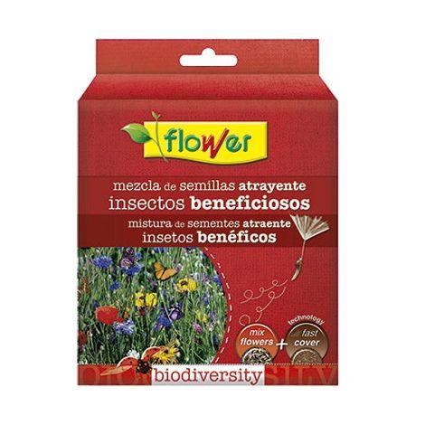 Mezcla Semillas de Flores Atrayente Insectos Beneficioso con Sustrato Fast Cover FLOWER - 500 gr