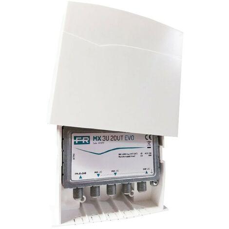 Mezclador de Ahold MX 3U 2OUT EVO 2 entradas, 2 salidas, MIX + dc 223272