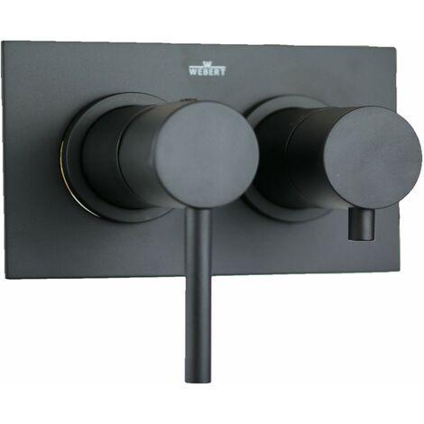 Mezclador de bañera empotrado con desviador en estilo minimalista Webert EL860101