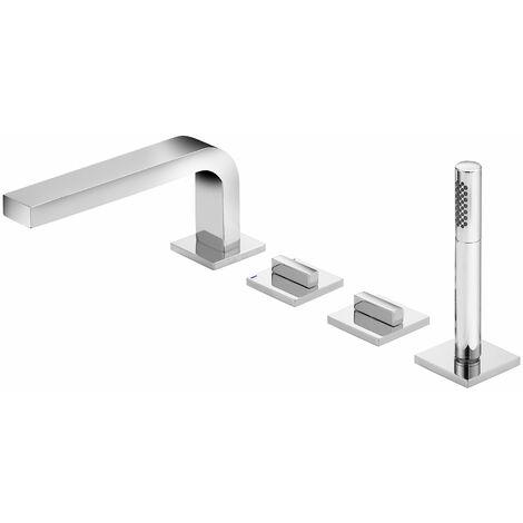 Mezclador de baño Keuco Edition 11 51130, 4 agujeros, montaje en el borde de la bañera, cromado - 51130010200