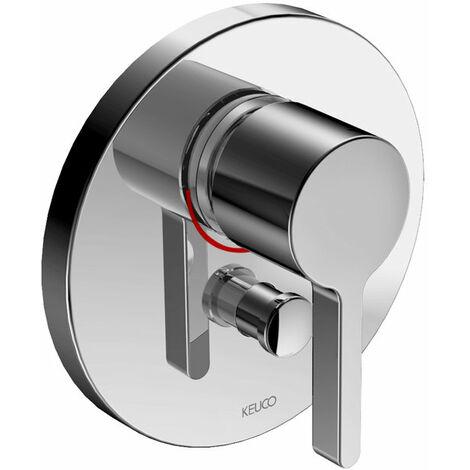 Mezclador de baño Keuco Edition 400 51572, para grifería empotrada, redondo, cromado - 51572010181