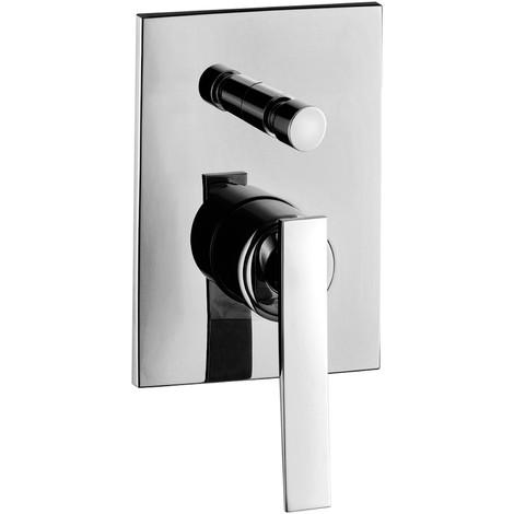 Mezclador de ducha empotrable con desviador Paffoni ELYS ELY015