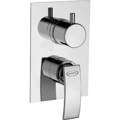 Mezclador de ducha empotrado 2 salidas Jacuzzi rubinetteria ray 0IO00400JA01 | Cromo