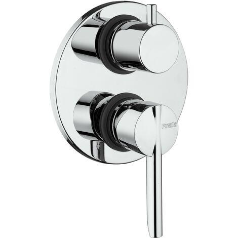 Mezclador de ducha empotrado con desviador de 2 vías Piralla Serena 0SE00400A16   Cromo - 2 salidas