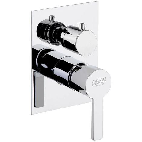 Mezclador de ducha empotrado con desviador Fiore Katana 77CR7501 | Cromado