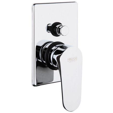Mezclador de ducha empotrado con desviador Fiore Kevon 81CR6517 | Cromado