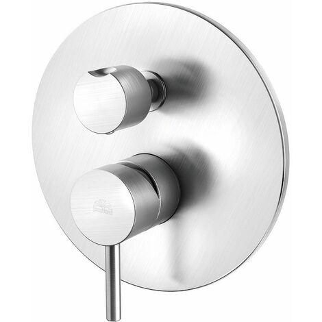 Mezclador de ducha empotrado con desviador Paffoni LIGHT LIG018