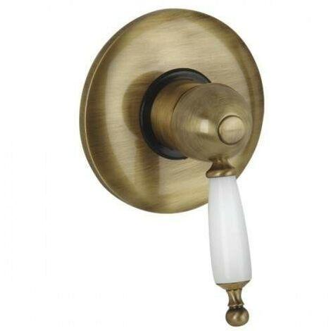 Mezclador de ducha empotrado con palanca blanca Bugnatese Oxford 6330