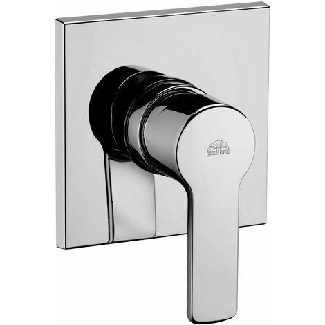 Mezclador de ducha empotrado con placa sin desviador Paffoni RED010   Cromo - 1 Salida