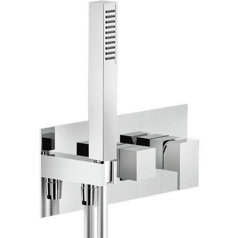 Mezclador de ducha empotrado de 2 vías Mia WESK100/QCR | cromado brillante