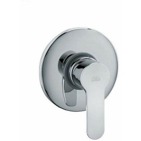 Mezclador de ducha empotrado en latón cromado Paffoni BLU010CR   Cromo - 1 Salida