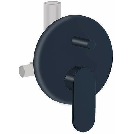 Mezclador de ducha empotrado negro mate 2 salidas Ponsi Versilia BTVERKIN06   Negro mate - 2 USCITE