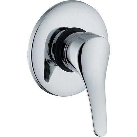Mezclador de ducha empotrado Onda en latón cromado | Cromado