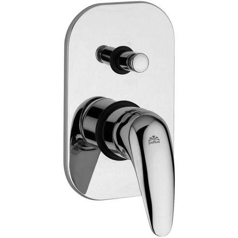 Mezclador de ducha empotrado Paffoni Duemila DU015CR | cromado brillante