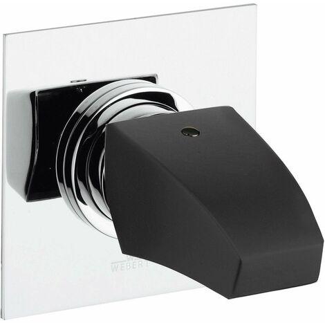 Mezclador de ducha empotrado Webert Flauto FT88010115 | Cromo-Negro - 1 SALIDA