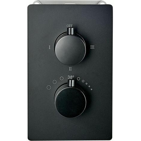 Mezclador de ducha mural para empotrar UP12-01 con inversor de 3 salidas - negro